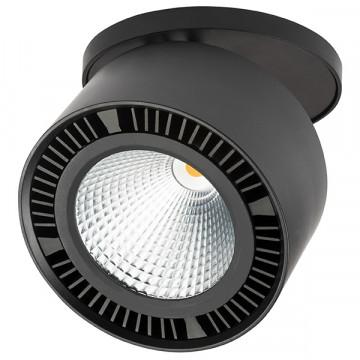 Встраиваемый светодиодный светильник Lightstar Forte Inca 214847, LED 40W 4000K 3400lm, черный, металл