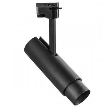 Светодиодный светильник с регулировкой направления света для шинной системы Lightstar Fuoco 215247, LED 15W 4000K 950lm, черный, металл