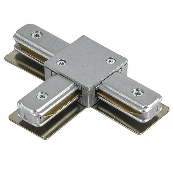 T-образный соединитель для шинопровода Lightstar Barra 502139, серый, пластик - фото 1