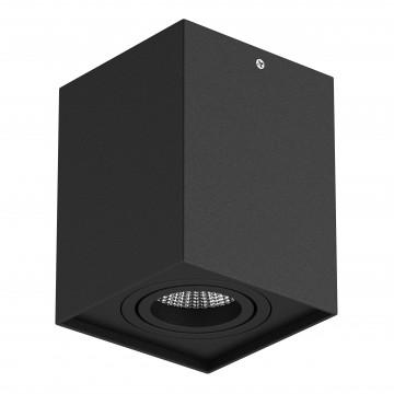 Потолочный светильник Lightstar Rettango 052077, 1xGU10x50W, черный, металл