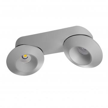 Потолочный светодиодный светильник с регулировкой направления света Lightstar Orbe 051329, LED 32W 3000K 2480lm, серый, металл