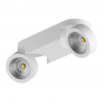 Потолочный светодиодный светильник с регулировкой направления света Lightstar Snodo 055263, LED 20W 3000K 1960lm, белый, металл