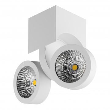 Потолочный светодиодный светильник с регулировкой направления света Lightstar Snodo 055364, LED 20W 4000K 1960lm, белый, металл