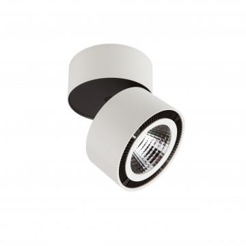 Потолочный светодиодный светильник с регулировкой направления света Lightstar Forte Muro 213850, LED 40W 3000K 3400lm, белый, черно-белый, металл
