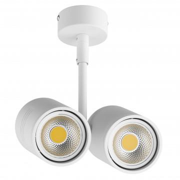 Потолочный светильник с регулировкой направления света Lightstar Rullo 214446, 2xGU10x50W, белый, металл