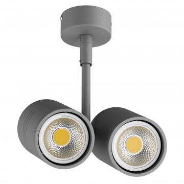 Потолочный светильник с регулировкой направления света Lightstar Rullo 214449, 2xGU10x50W, серый, металл