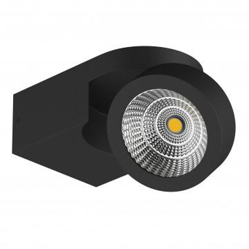 Потолочный светодиодный светильник с регулировкой направления света Lightstar Snodo 055173, LED 10W 3000K 980lm, черный, металл