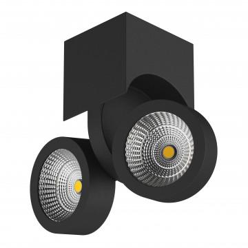 Потолочный светодиодный светильник с регулировкой направления света Lightstar Snodo 055373, LED 20W 3000K 1960lm, черный, металл