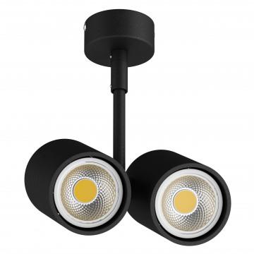 Потолочный светильник с регулировкой направления света Lightstar Rullo 214447, 2xGU10x50W, черный, металл