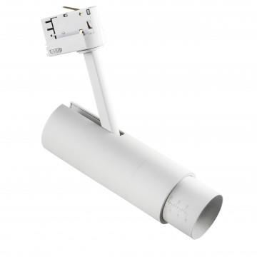 Светодиодный светильник с регулировкой направления света для шинной системы Lightstar Fuoco 215436, LED 15W 3000K 950lm, белый, металл