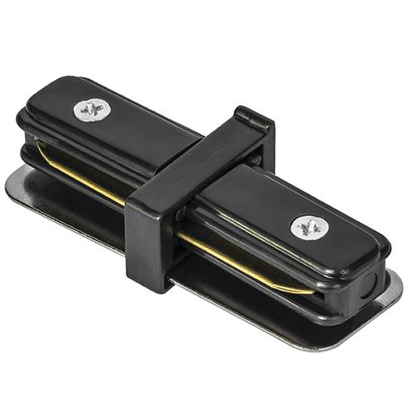 Внутренний прямой соединитель для шинопровода Lightstar Barra 502107, черный, пластик