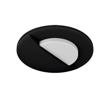 Встраиваемый настенный светодиодный светильник Lightstar Lumina 212137, LED 1W 3000K 60lm, черный, черно-белый, металл