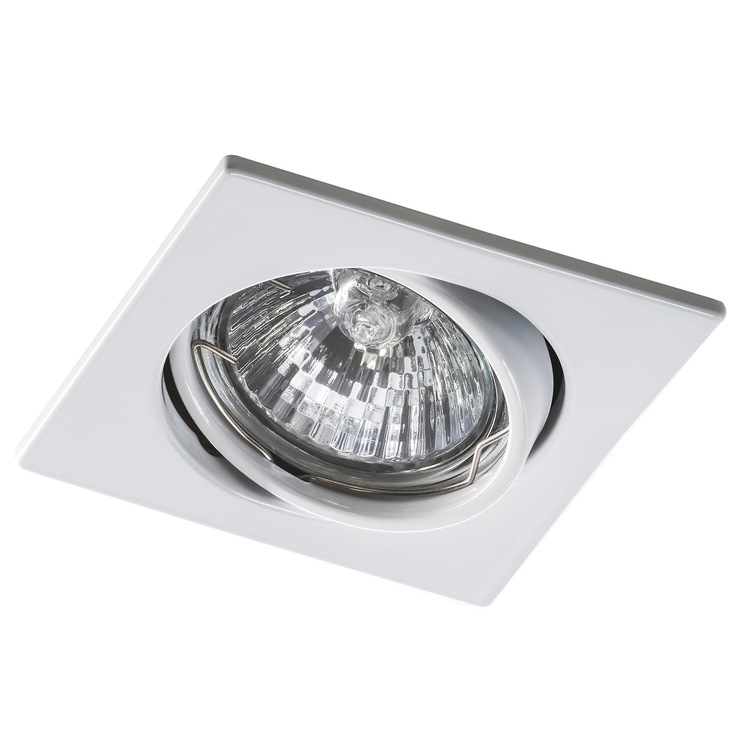 Встраиваемый светильник Lightstar Lega 16 011940, 1xGU5.3x50W, белый, металл - фото 1