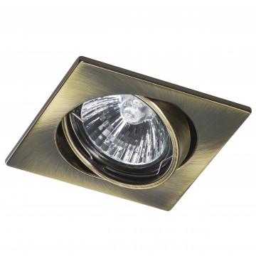 Встраиваемый светильник Lightstar Lega 16 011941, 1xGU5.3x50W, бронза, металл