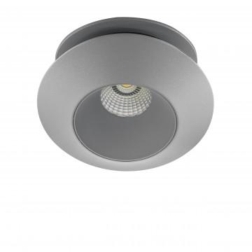Встраиваемый светодиодный светильник с регулировкой направления света Lightstar Orbe 051309, LED 15W, 3000K (теплый), серый, металл