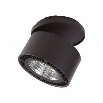 Встраиваемый светодиодный светильник с регулировкой направления света Lightstar Forte Inca 213847, LED 40W, 3000K (теплый), черный, металл