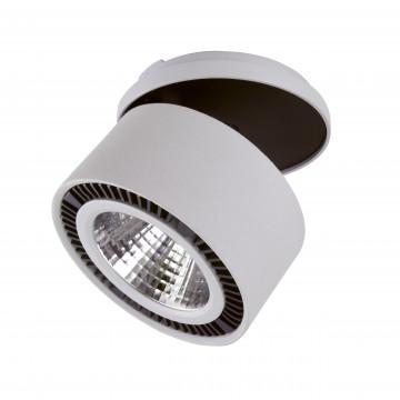 Встраиваемый светодиодный светильник с регулировкой направления света Lightstar Forte Inca 214849 4000K (дневной), серый, металл