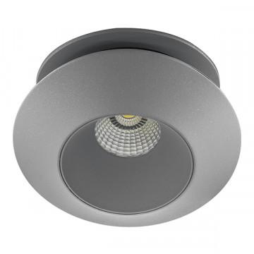 Встраиваемый светодиодный светильник с регулировкой направления света Lightstar Orbe 051309, LED 15W 3000K 1240lm, серый, металл