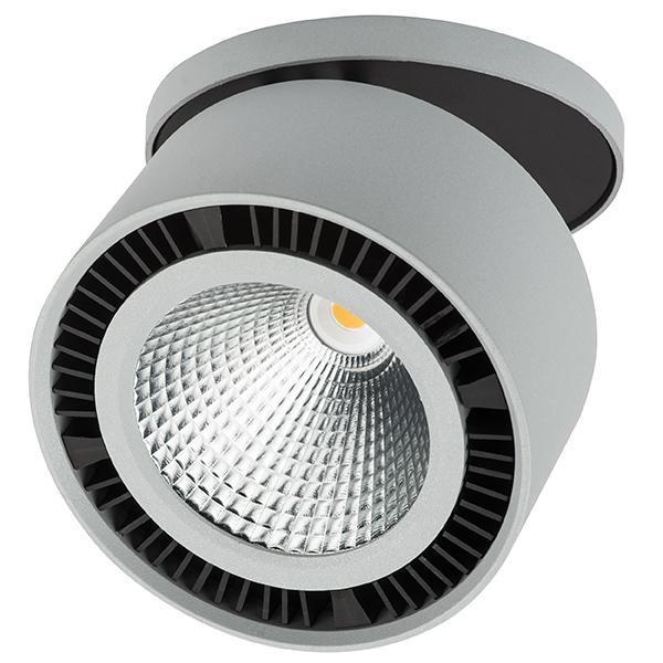 Встраиваемый светодиодный светильник Lightstar Forte Inca 213829, LED 26W 3000K 1950lm, серый, металл - фото 1