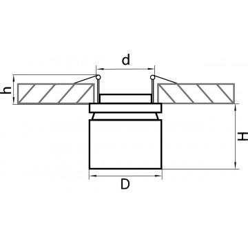 Схема с размерами Lightstar 214840