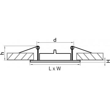 Схема с размерами Lightstar 011940