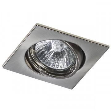 Встраиваемый светильник Lightstar Lega 16 011945, 1xGU5.3x50W, никель, металл