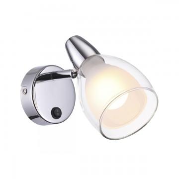 Настенный светильник с регулировкой направления света Odeon Light Flexi Chrome 3630/1W, 1xE14x40W, хром, белый, прозрачный, металл, стекло