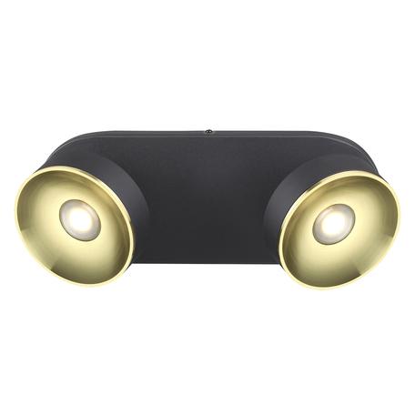 Потолочный светодиодный светильник с регулировкой направления света Odeon Light Fineca 3812/14WL 3000K (теплый), черный, золото, металл