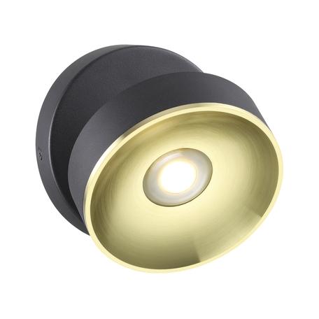 Потолочный светодиодный светильник с регулировкой направления света Odeon Light Fineca 3812/7WL 3000K (теплый), черный, золото, металл