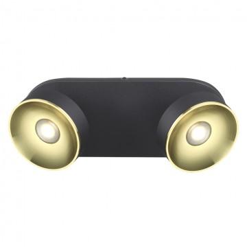 Потолочный светодиодный светильник с регулировкой направления света Odeon Light Fineca 3812/14WL, LED 14W 3000K (теплый), черный, золото, металл