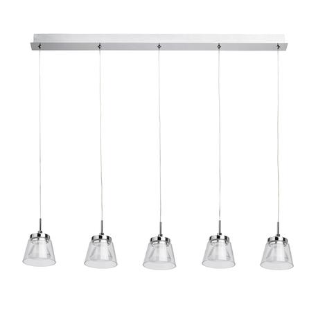 Подвесной светодиодный светильник MW-Light Торес 4 110011205, LED, хром, прозрачный, металл, стекло