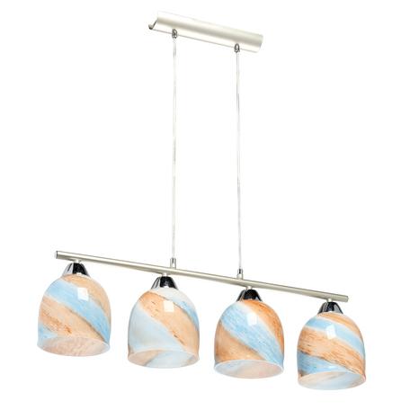 Подвесной светильник MW-Light Лоск 354019204, 4xE27x40W, серебро, разноцветный, металл, стекло