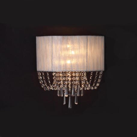 Бра ST Luce Representa SL892.101.03, 3xE14x40W, хром, серебро, прозрачный, металл, текстиль, хрусталь