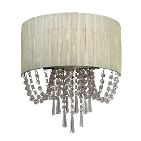 Бра ST Luce Representa SL892.501.03, 3xE14x40W, хром, бежевый, прозрачный, металл, текстиль, хрусталь