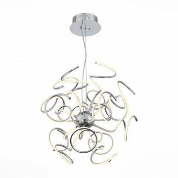 Подвесная светодиодная люстра с пультом ДУ ST Luce Riccolo SL904.103.16, LED 60W 4000K, хром, металл, металл с пластиком