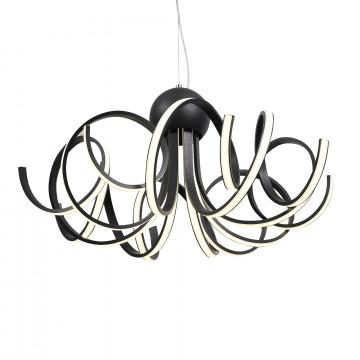 Подвесная светодиодная люстра ST Luce Fondere SL906.403.08, LED 120W, 4000K (дневной), черный, белый, металл, пластик - миниатюра 1