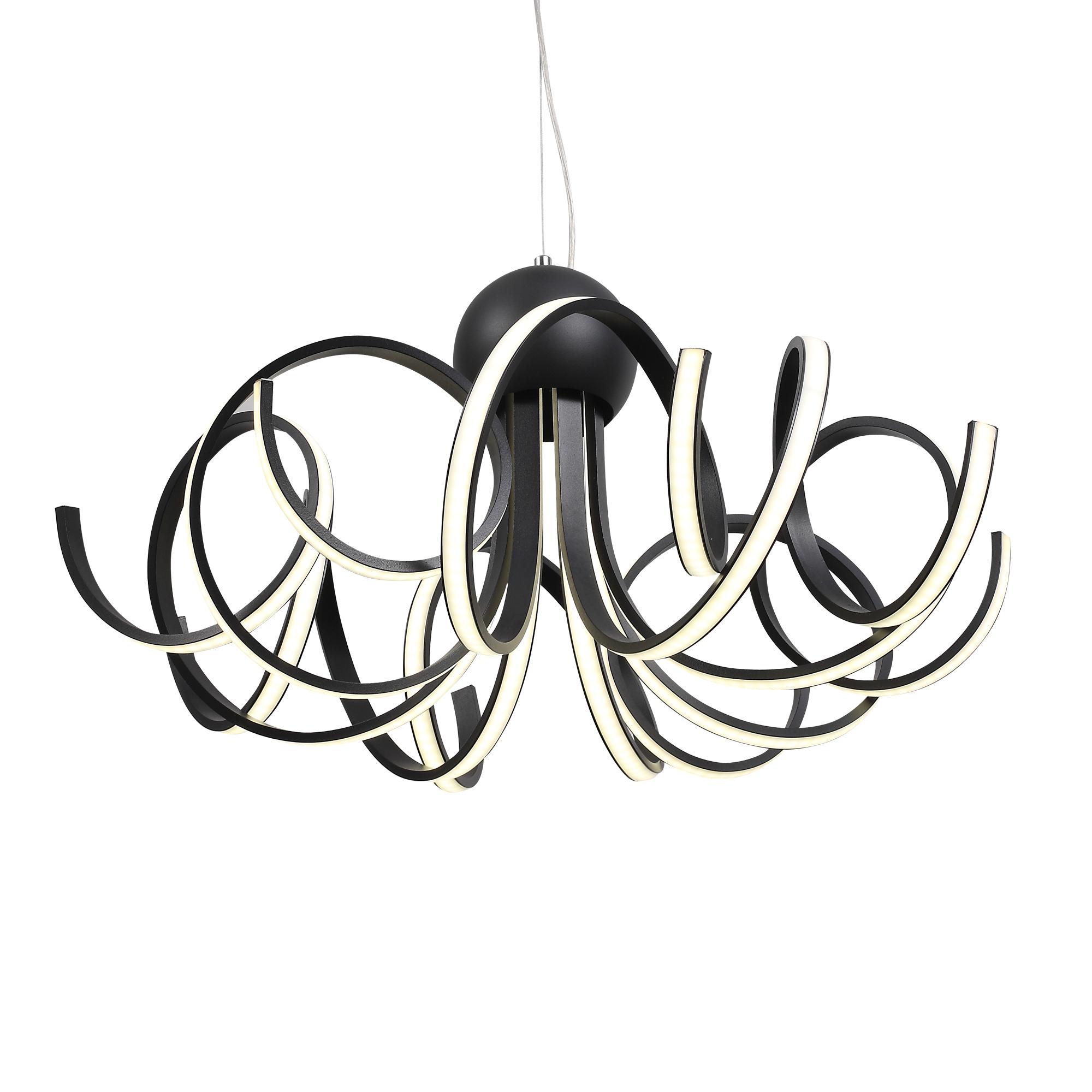 Подвесная светодиодная люстра ST Luce Fondere SL906.403.08, LED 120W, 4000K (дневной), черный, белый, металл, пластик - фото 1