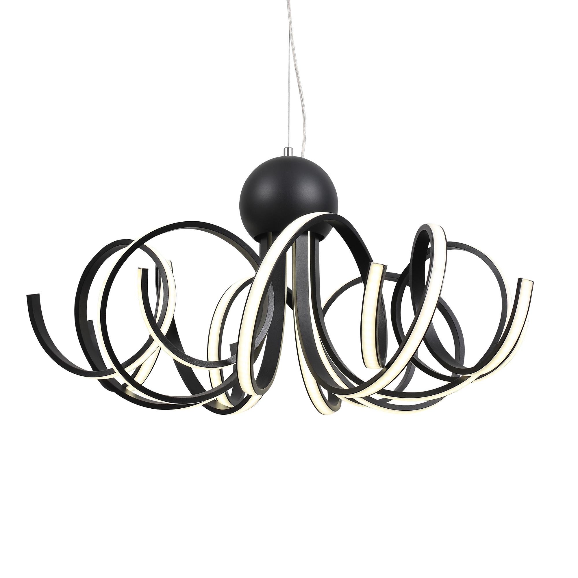 Подвесная светодиодная люстра ST Luce Fondere SL906.403.08, LED 120W, 4000K (дневной), черный, белый, металл, пластик - фото 10