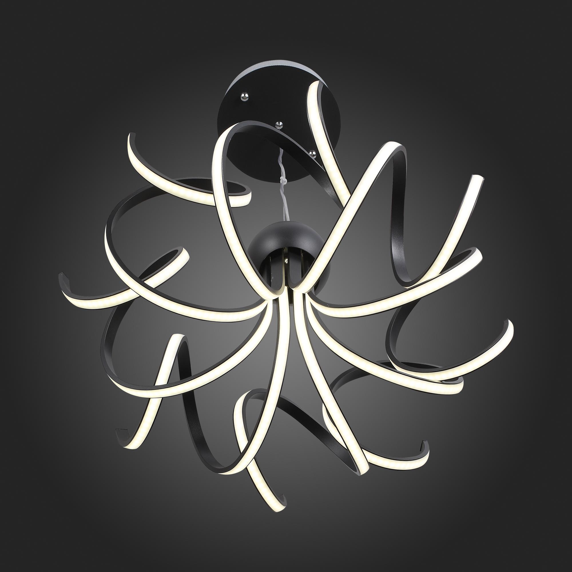 Подвесная светодиодная люстра ST Luce Fondere SL906.403.08, LED 120W, 4000K (дневной), черный, белый, металл, пластик - фото 12