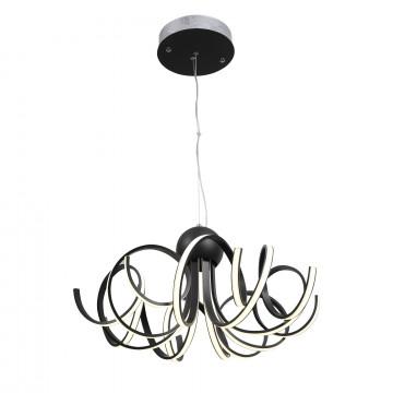 Подвесная светодиодная люстра ST Luce Fondere SL906.403.08, LED 120W, 4000K (дневной), черный, белый, металл, пластик - миниатюра 2