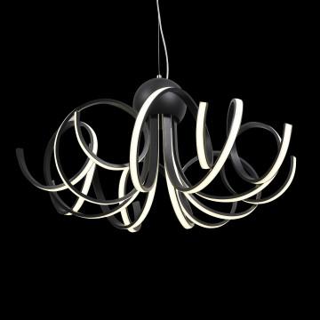 Подвесная светодиодная люстра ST Luce Fondere SL906.403.08, LED 120W, 4000K (дневной), черный, белый, металл, пластик - миниатюра 4