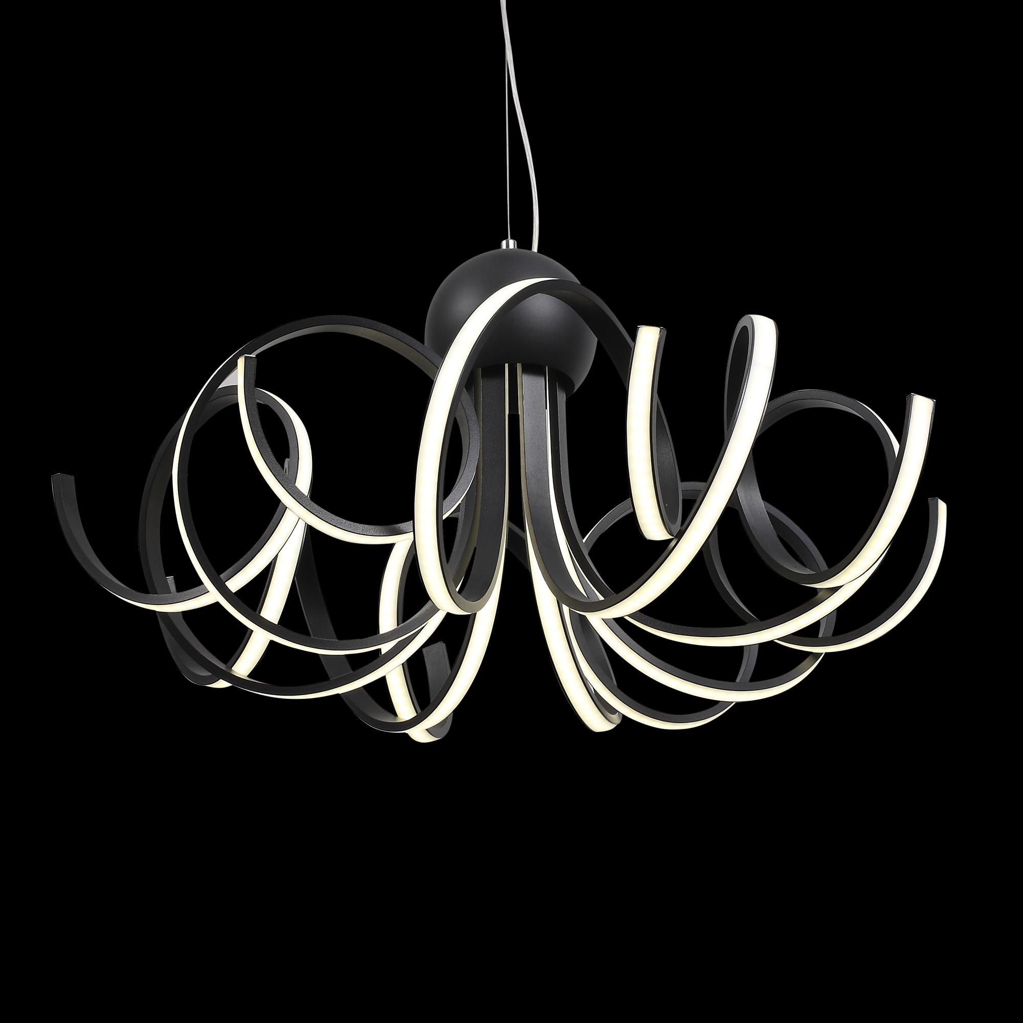 Подвесная светодиодная люстра ST Luce Fondere SL906.403.08, LED 120W, 4000K (дневной), черный, белый, металл, пластик - фото 4