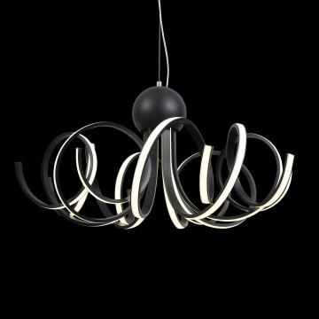 Подвесная светодиодная люстра ST Luce Fondere SL906.403.08, LED 120W, 4000K (дневной), черный, белый, металл, пластик - миниатюра 8