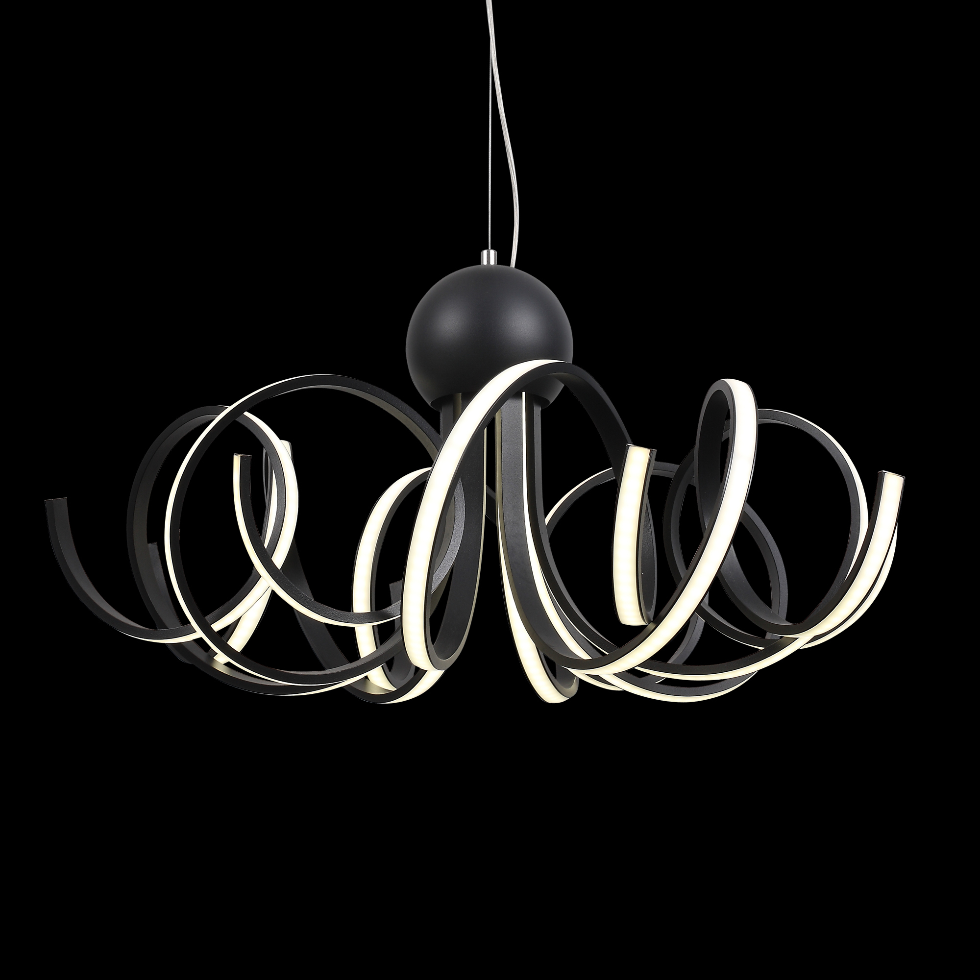 Подвесная светодиодная люстра ST Luce Fondere SL906.403.08, LED 120W, 4000K (дневной), черный, белый, металл, пластик - фото 8