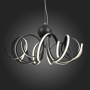 Подвесная светодиодная люстра ST Luce Fondere SL906.403.08, LED 120W, 4000K (дневной), черный, белый, металл, пластик - миниатюра 9
