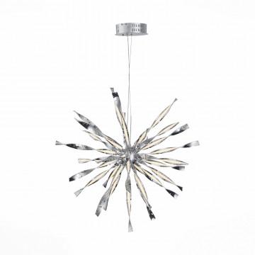 Подвесная светодиодная люстра с пультом ДУ ST Luce Raggio SL927.113.24, LED 100W 4000K, хром, металл, металл с пластиком