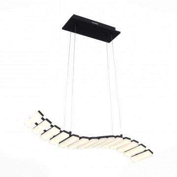 Подвесной светодиодный светильник ST Luce Scaletta SL910.403.14, LED 56W 3500K, черный, белый, металл, пластик