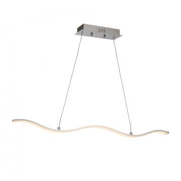 Подвесной светодиодный светильник ST Luce Presa SL913.103.01, LED 20W 4000K, хром, металл, металл со стеклом/пластиком