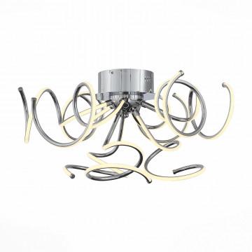 Потолочная светодиодная люстра с пультом ДУ ST Luce Riccolo SL904.102.09, LED 34W 4000K, хром, металл, металл с пластиком