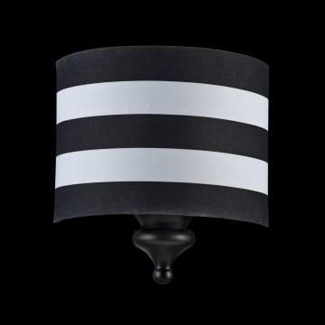 Бра Maytoni Sailor MOD963-WL-01-B, 1xE14x40W, черный, черно-белый, металл, текстиль - миниатюра 3